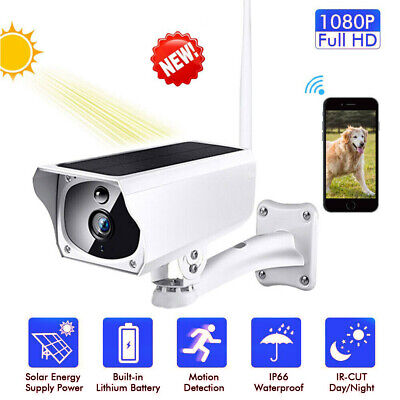 Wireless Solar WiFi IP Camera 1080P HD Security Surveillance Waterproof Outdoor