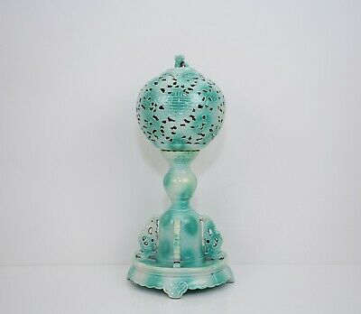 A Green Glazed Imitating Mottled Jadeite Hat Stand