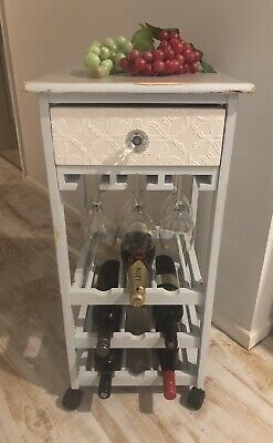 Entertainers Wine Trolley on Casters  with drawer for storage....