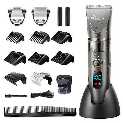 Hatteker Professional Hair Clipper Cordless Clippers Hair Trimmer Beard Trimmer
