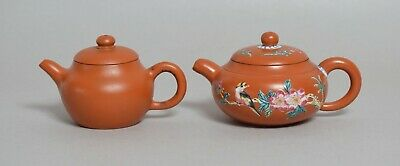 Two Good Chinese Yixing Pottery Teapots, Signed