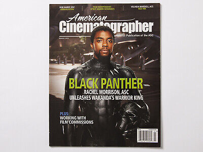 American Cinematographer March 2018 Issue Magazine Black Panther