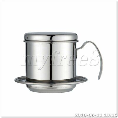 Coffee Maker Pot Stainless Steel Cup Vietnamese Coffee Drip Filter Maker sliver