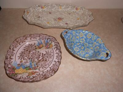 Vintage X 3 Assorted Pieces of ENGLISH All Over Floral CHINTZ Bcm-Kent-Colclough