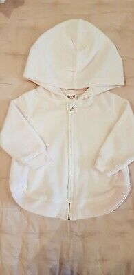 Seed Heritage Baby Girl Jacket Jumper Pink Velour Size 000 / 0 - 3 Mths LIKE NEW