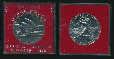 Australia: 1973 Opera House Official Opening/ Performing Arts Medal 38mm Cased