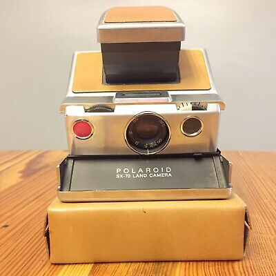Vintage Polaroid SX-70 Land Camera with Leather Case Not Tested Very Clean