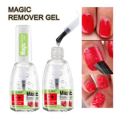 LULAA 15ML Nail Polish Burst Magic Gel Nail Polish Remover Soak Off Nail Cleaner