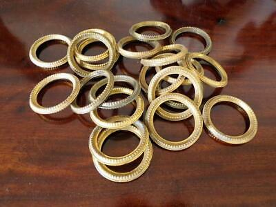 21 Vintage French Matching Tole Wear Curtain Rings