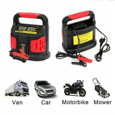 15A Auto Car Smart Battery Charger 12V/24V Vehicle Jump Starter Fast Safety NEW