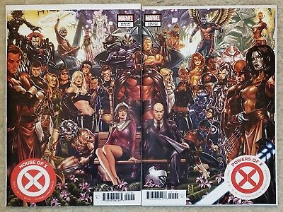 House of X #1 & Powers of X #1 Brooks Connecting Variant Set 🔥 NM, Ships in Box