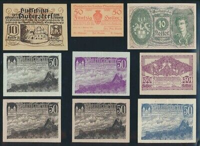 """Austria: 1919-68 """"HISTORIC COLLN OF 15 DIFFERENT"""" incl WWII. P49-142a F to UNC"""