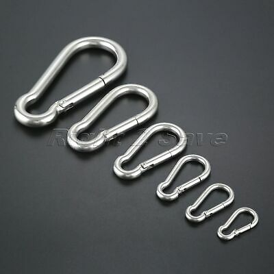 1pc 316 Stainless Steel Heavy Duty Carabiner Spring Snap Hook Clip M4 to M12