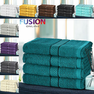 4pc Hand Towel Luxury Towels Bale Set 100% Egyptian Cotton Face Bath Bathroom
