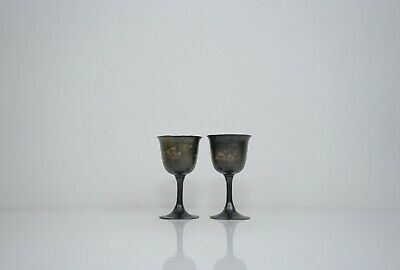 A Pair of Silver Stem Cups, 19th Century