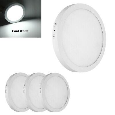 4 x 18W LED Round Surface Mount Recessed Panel Light Down Ultra Cool White UK