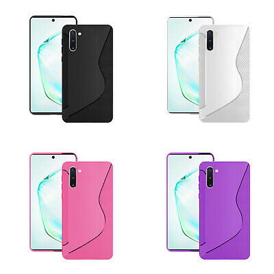 Case For Samsung Galaxy Note 10 S-Line Silicone Gel Skin Shockproof Phone Cover
