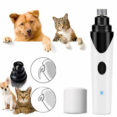 Dog Cat Nail Clipper Grinder Trimmer Pet Grooming Electric Tool Kit Paws USB