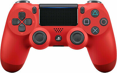 Sony Dualshock 4 V2 Wireless Controller per PlayStation 4 - Red