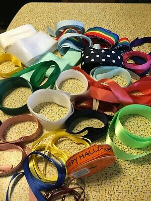 Huge Vintage Lot of  Miscellaneous Ribbon (over 30 yards) for Craft and Sewing