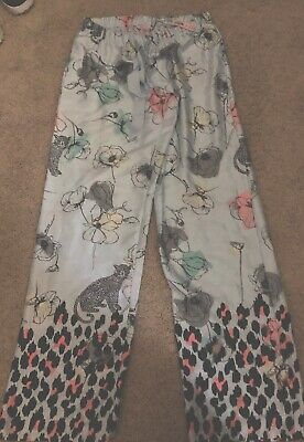 NEW Victorias Secret Light Weight 100% Polyester Pajama PJ Sleep Pants Floral XS