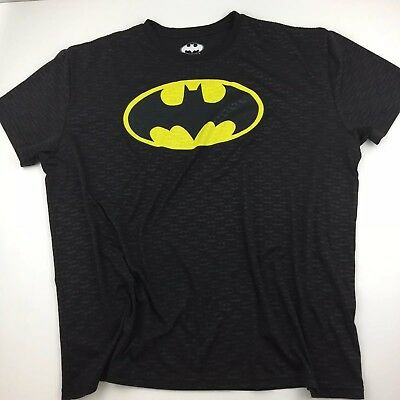 DC Comics Batman Mens Graphic T-Shirt Black Short Sleeve Sz 2XL