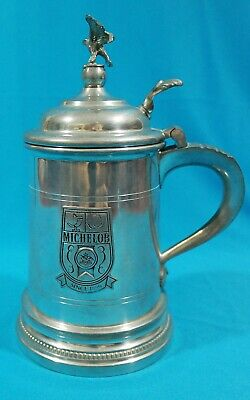 Rare Michelob Shirley Pewter Eagle Lidded Tankard Williamsburg Virginia
