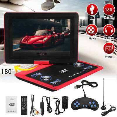 Car 13.8'' Portable DVD Player Screen CD MP3 Player USB With Game Radio