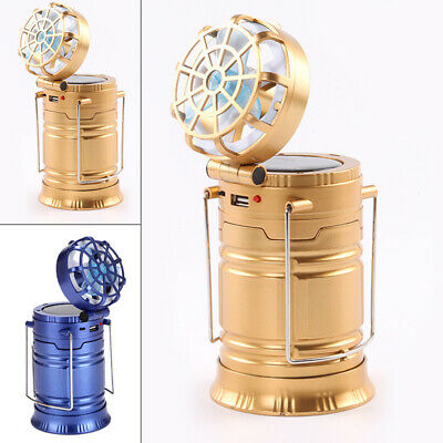 Fan Camping Light Multi-function Outdoor Solar Rechargeable Flashlight