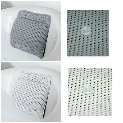 Addis Non-Slip Cushioned Bath Pillow With 8 Slip-Resistant Suction Cups
