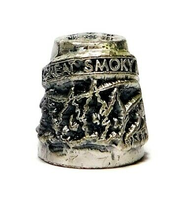 Hi-Relief Great Smoky Mountains Pewter Thimble