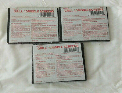 """24 Grill Screens - 24 sheets - 4"""" x 5 1/2"""" ~ Grill & Griddle Cleaning Screens"""