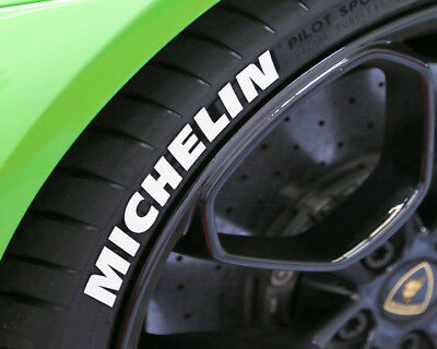 "TIRE LETTERS - MICHELIN - 1"" For 17"" 18"" Wheels (4pcs) - low profile stickers"