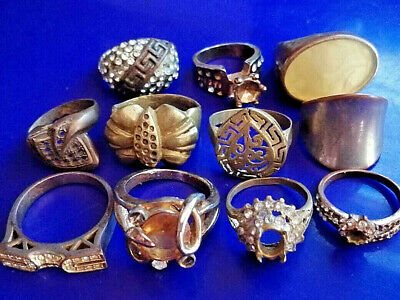 LOT of 11pcs. ANCIENT ROMAN , BYZANTINE AND MEDIEVAL FINGER BRONZE RINGS+++
