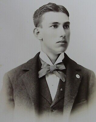 Cabinet Photo Portrait Of Exceptionally Beautiful Dapper Young Man Waterloo Ny