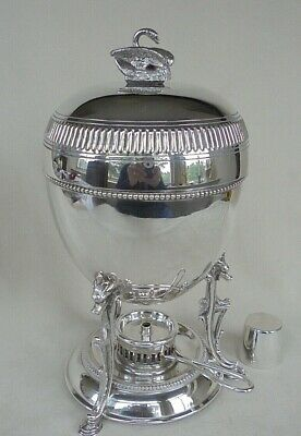 Vintage Silver Plated Egg Coddler By Walker & Hall ~ Beautiful Swan Finial !