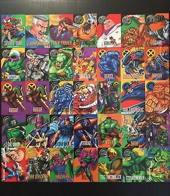 1996 Marvel Vision 35 Trading Cards geprägt Fleer SkyBox NM/Mint