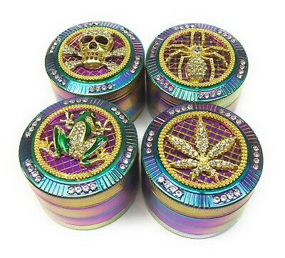 New Rainbow Tobacco Herb 2 inch Colorful Crusher Grinder US Seller Free Shipping