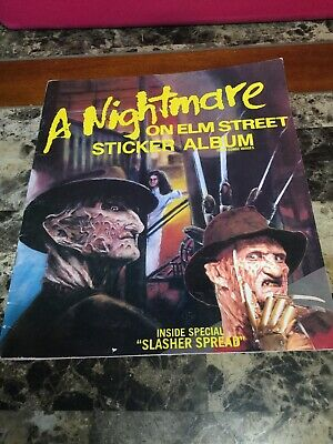 Vintage 1984 A Nightmare On Elm Street Sticker Album Horror Movie - No Stickers