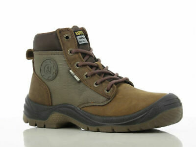 Men Work Boot Safety Jogger Dakar Hi Top Steel Toe Brown Leather 100% Original