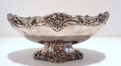 Antique LUNT A-74 Vtg Silverplate Oval Footed BonBon Dish Eloquence Victorian
