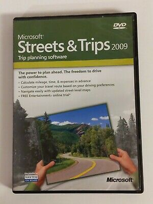 Microsoft Streets and Trips DVD with GPS Locator and Product Key