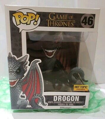 """Funko POP Game of Thrones 6"""" DROGON RED EYES Dragon Hot Topic Exclusive"""