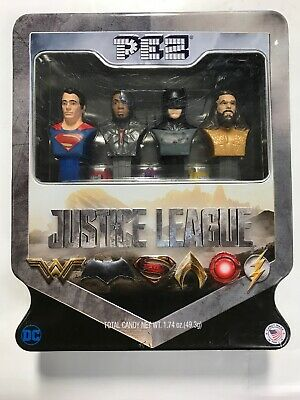 Justice League Pez Dispenser 4pc Set in Collectable Tin