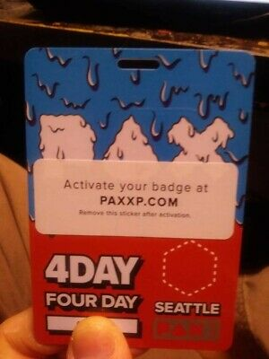 PAX West 2019 4 Day Badge (Friday, Saturday, Sunday, Monday) Penny Arcade Prime
