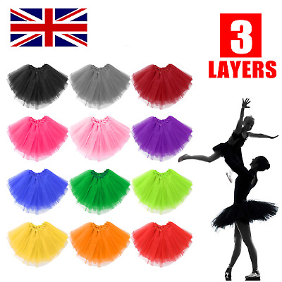 Women Adult Lady Tutu Tulle Skirt Fancy Skirt Dress Up Party Dancing Kids Girls