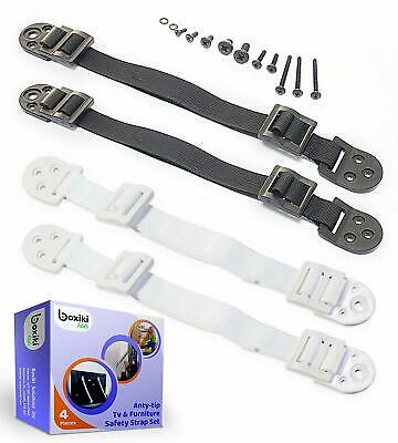 Heavy Duty Anti-Tip Furniture Straps Set for Child Proofing (4 Pieces) by Boxiki