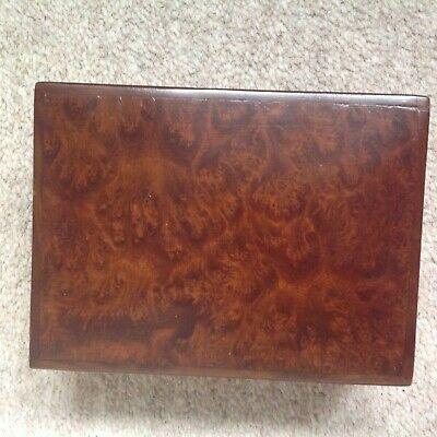 Antique Walnut burr box very beautiful rare