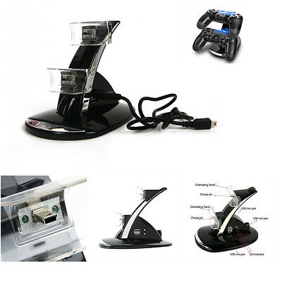 Dual LED Docking Charger Stand Station For Sony PS3/PS4 Wireless Controller lb