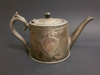 Antique Walter Oxley of Sheffield silver plated teapot